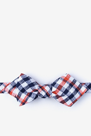 Lance Orange Diamond Tip Bow Tie