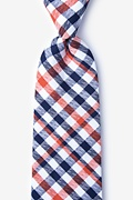 Orange Cotton Lance Extra Long Tie