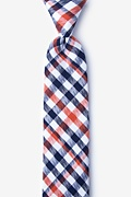Orange Cotton Lance Skinny Tie