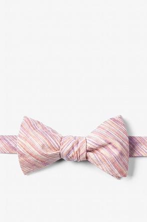 Orange Scott Butterfly Bow Tie