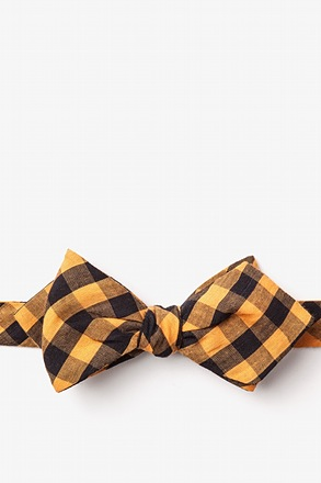 Pasco Orange Diamond Tip Bow Tie