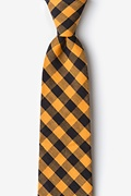 Orange Cotton Pasco Extra Long Tie