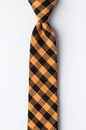 Pasco Orange Skinny Tie