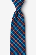 Orange Cotton Sahuarita Extra Long Tie