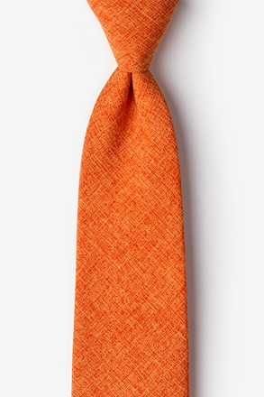_Tioga Orange Extra Long Tie_
