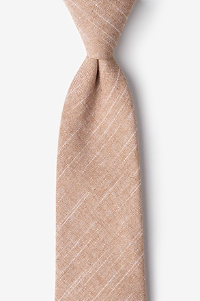 Wortham Orange Extra Long Tie