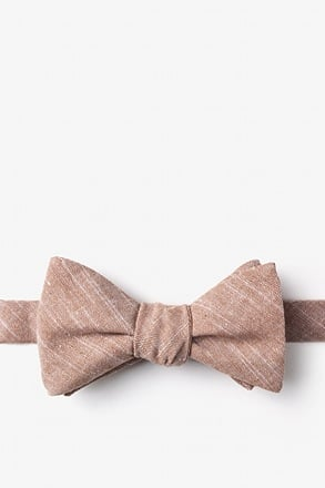 _Wortham Orange Self-Tie Bow Tie_