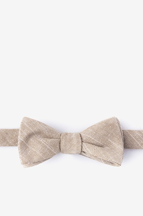 _Wortham Orange Skinny Bow Tie_