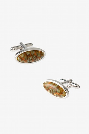 Art Glass Many Flowers Cufflinks
