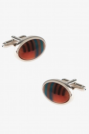 Patterned Oval Cufflinks