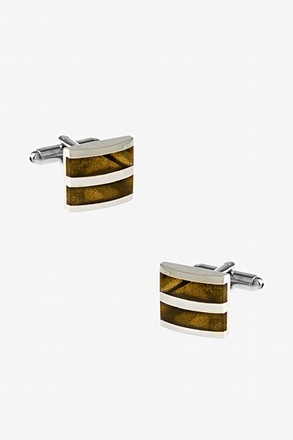 _Starry Stripe Square Cufflinks_