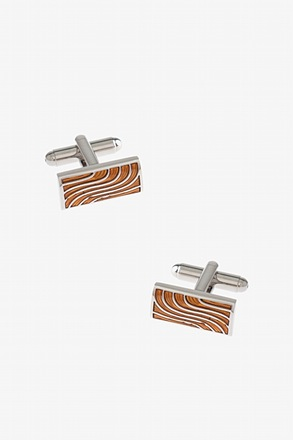 Wavy Striped Bar Cufflinks