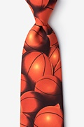 Basketball Fever Orange Tie Photo (0)