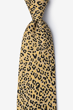 Cheetah Animal Print Orange Tie