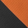 Orange Microfiber Orange & Black Stripe Extra Long Tie