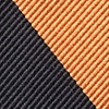 Orange Microfiber Orange & Black Stripe Self-Tie Bow Tie