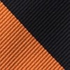 Orange Microfiber Orange & Black Stripe Tie