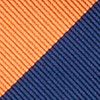 Orange Microfiber Orange & Navy Stripe Self-Tie Bow Tie