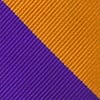Orange Microfiber Orange & Purple Stripe Extra Long Tie