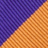 Orange Microfiber Orange & Purple Stripe Self-Tie Bow Tie