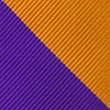 Orange Microfiber Orange & Purple Stripe Skinny Tie