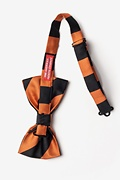 Orange & Black Stripe Pre-Tied Bow Tie Photo (1)