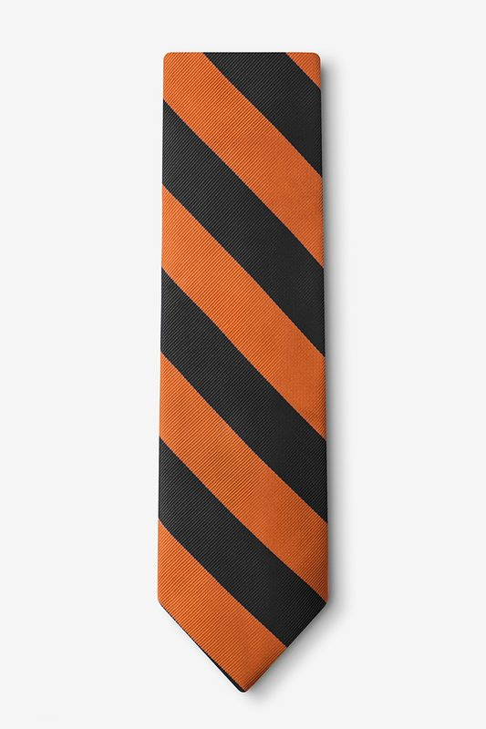 Orange & Black Stripe Tie Photo (1)