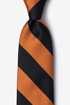 _Orange & Black Stripe Tie_
