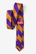 Orange & Purple Stripe Skinny Tie
