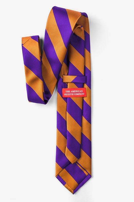 Orange & Purple Stripe Tie