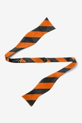 Orange and Black Stripe Self-Tie Bow Tie Photo (1)