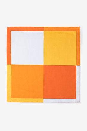 Cary Orange Pocket Square