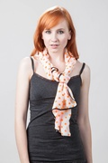 Itsy Bitsy Teenie Weenie Orange Scarf by Scarves.com