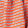 Orange Polyester Mens Candy Stripe Scarf
