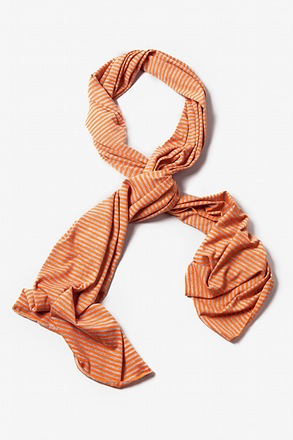 Mens Candy Stripe Orange Scarf