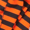 Orange Polyester Mens Traveling Stripe Scarf