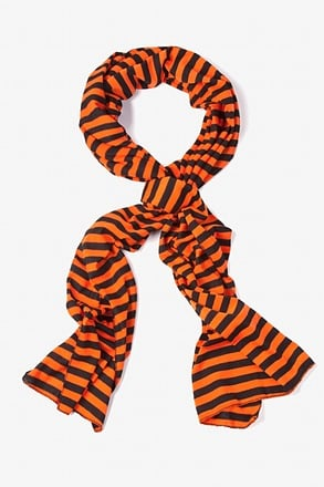 Mens Traveling Stripe Orange Scarf