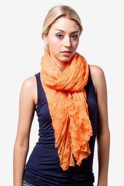 Morgan Solid Orange Scarf