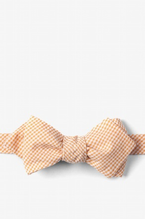 Orange Chamberlain Check Diamond Tip Bow Tie