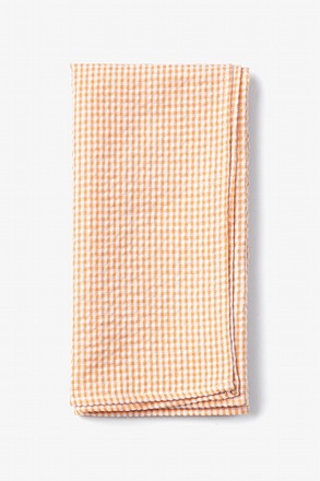 Orange Chamberlain Check Pocket Square