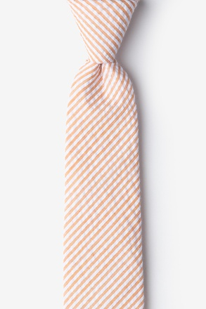 Orange Kensington Seersucker Skinny Tie