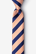 Orange Silk Berkner  Skinny Tie