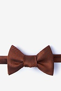 Orange Silk Buck Self-Tie Bow Tie