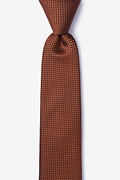 Orange Silk Buck Skinny Tie