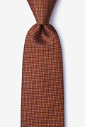 Orange Silk Buck Tie
