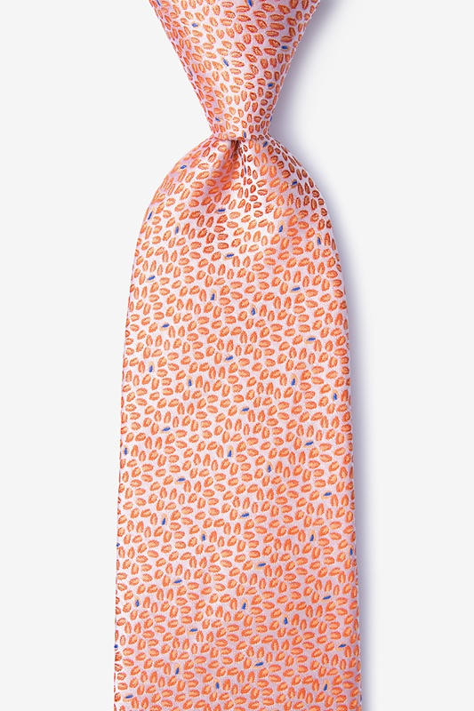 Doolittle Orange Extra Long Tie Photo (0)