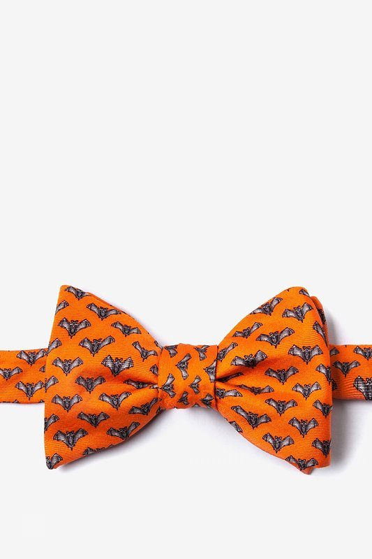 Going Batty Orange Self-Tie Bow Tie Photo (0)