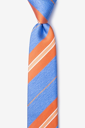 Inny Orange Skinny Tie