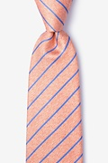 Orange Silk Lagan Extra Long Tie