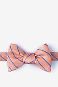 Orange Silk Lagan Self-Tie Bow Tie
